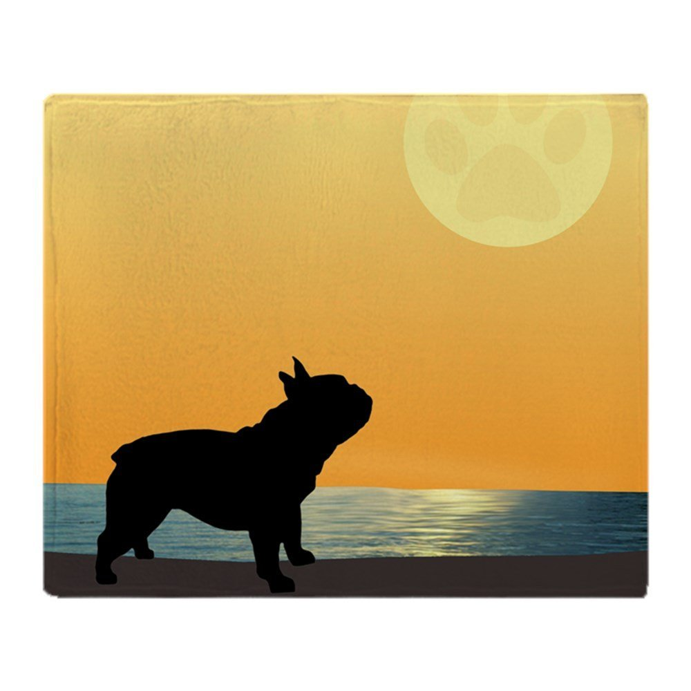 French Bulldog Surfside Sunset Soft Fleece Throw Blanket Soft Flannel Blanket to on for the sofa/Bed/Car Portable Plaids