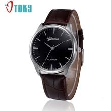 OTOKY Quartz wristwatches Fashion Casual Men Leather Business watch Men's Watch Hours relogio masculino #40 Gift 1pc