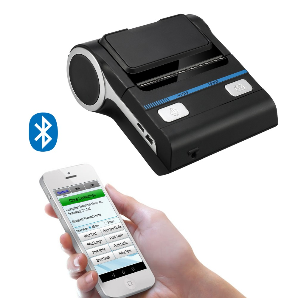 MHT-P8001 80mm Portable Android IOS Windows Mobile Thermal Printers With USB Bluetooth For Restaurant Retail Catering