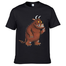 DoneBay Brand T-shirt New 2017 gruffalo T Shirt for Men and Women Summer Round Collar Tees Black White Short Sleeve Cotton Tops