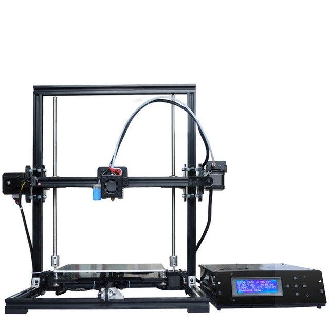 Full Aluminium 3D Printer DIY KIT Auto Leveling 220*220*300mm Printing size LCD 2004A Cover Box US RU Stock + 20M PLA filament