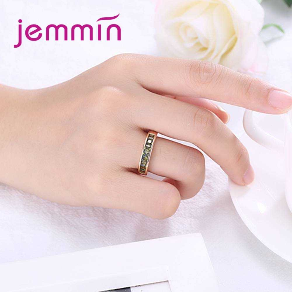 Hot Fashion Women Wedding Jewelry Rings Silver  Diamond Rings Top Quality Cubic Zirconia Gold Color Rings Wholesale