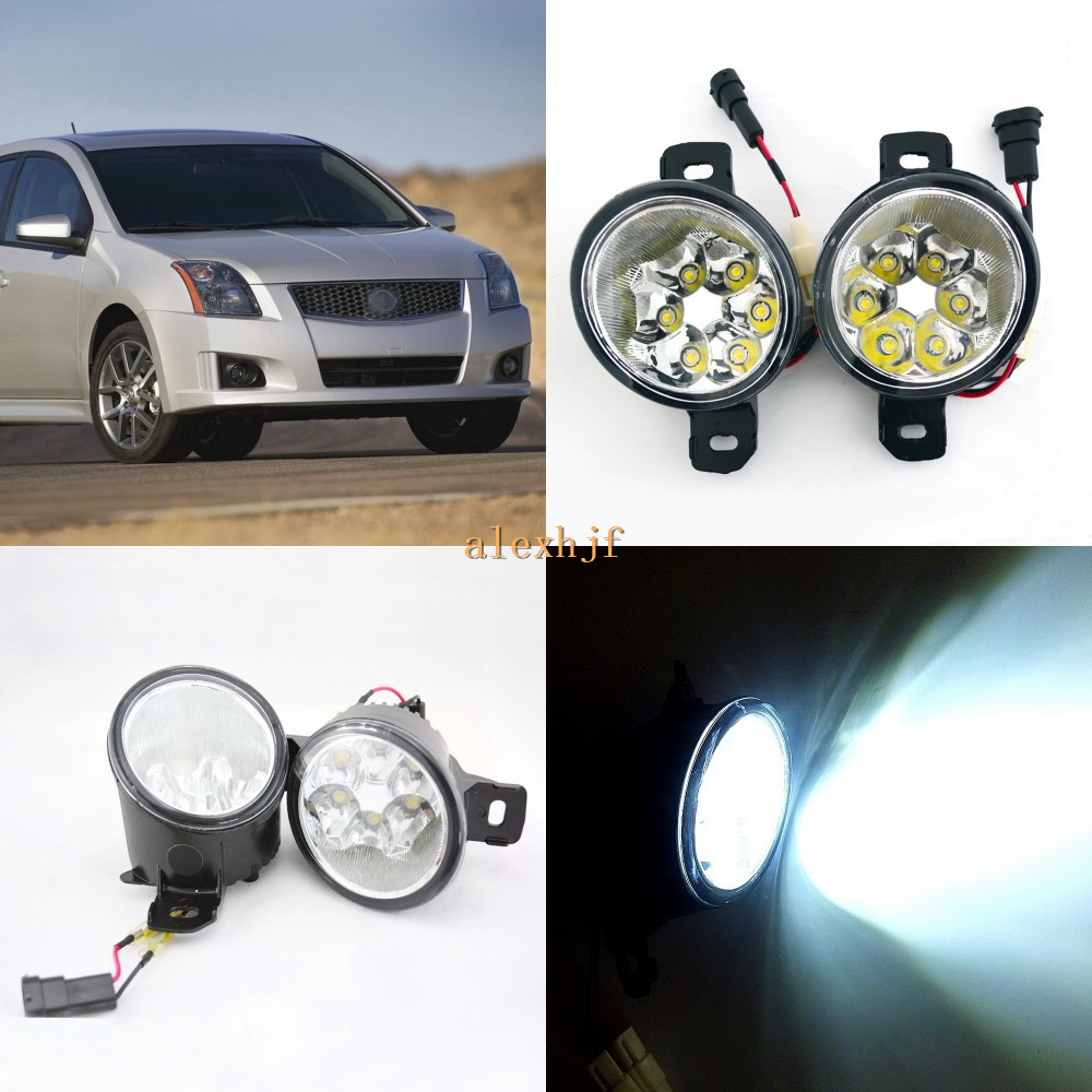 July King 18W 6LEDs H11 LED Fog Lamp Assembly Case for Nissan Sentra-FE 2007~ON,  6500K 1260LM LED Daytime Running Lights july king 18w 6leds h11 led fog lamp assembly case for nissan versa 2012 on 6500k 1260lm led daytime running lights