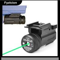 Puissance Green Dot Laser Sight Collimateur QD 20mm Rail Mount pour fusil et Pistolet Pistolet et Fusil Airsoft Glock 17 19 22