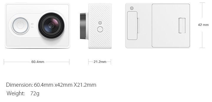 Xiaomi Xiaoyi WiFi Action Camera 16MP 60FPS Ambarella 184850 10