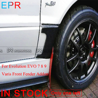 For Evolution EVO 7 8 9 Carbon Fiber VRS Style Front Fender Addon For Mitsubishi Glossy Finish Wheel Flare Add On Tuning Part