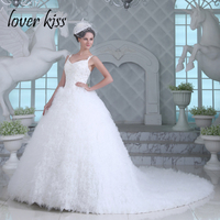 Lover Kiss Robes De Mariag Luxury Winter Spring Lace Wedding Ball Gown Celebrity Banquets Bride Dresses