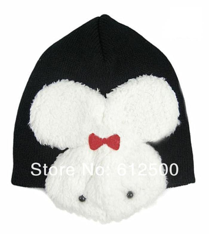 1 шт., 5 цветов, хлопковая шапка с рисунком кролика, детские шапки, детская шапка