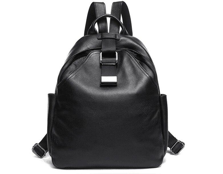 정품 가죽 블랙 소프트 암소 피부 대용량 배낭 학교 가방-에서백팩부터 수화물 & 가방 의  그룹 3