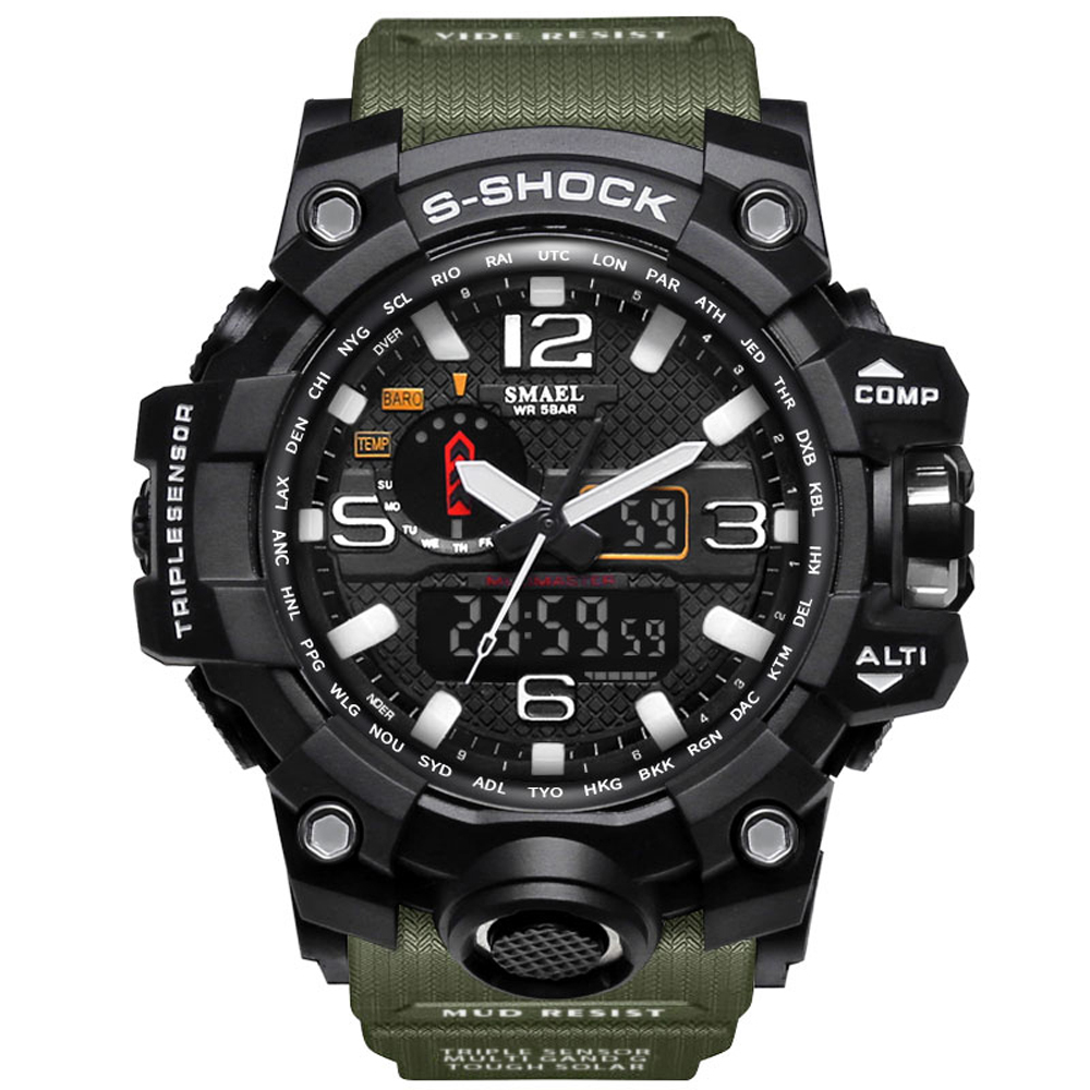New G Style Men Sports Watches Big Dial Quartz Digital Watch For Men Luxury Brand Shock Military LED Waterproof Men Wristwatches