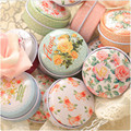 Luxurious Elegant Mini Tin Box Round Handmade Soap/Pill/Iron Metal Case Lipstick Mac Cosmetic Jewelry Storage Boxes 12pcs/lot