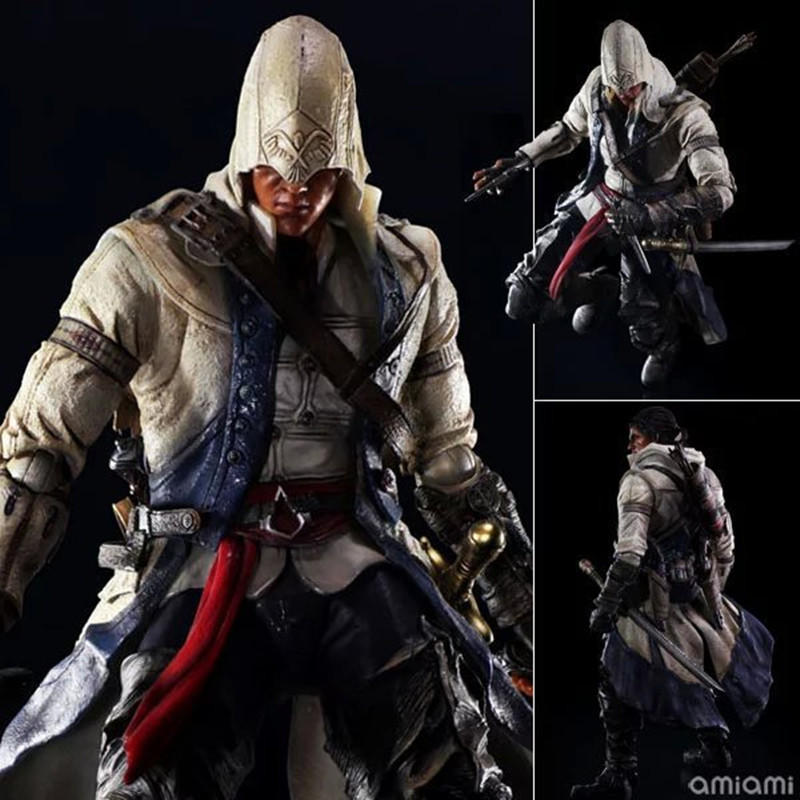 ФОТО Assassin's Creed Action Figure Playarts Kai Connor Kenway Toys Collection Model PVC 270mm Assassin's Creed Play arts Kai