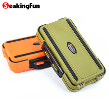 SeaKingFun New Arrived Fishing Tackle Box Compartments 2Colors Fish Lure Line Hook Fishing Tackle Fishing Accessories Box