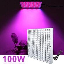 лучшая цена 100W Full Spectrum LED Grow Light For Indoor Plant Growing Lamp Seedings Flowers Plants Vegetables Growth Tent Lights
