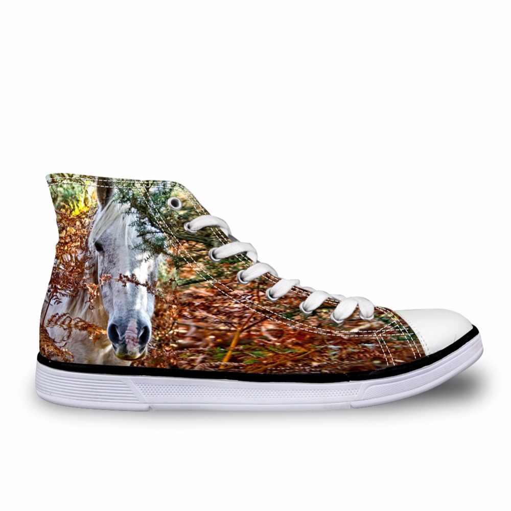 Noisydesigns Mannelijke sneakers Mannen zwart zebra paarden 3D print vintage platte schoenen gevulkaniseerd lace up hoge top casual jongens mode