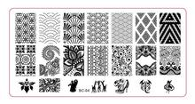 BC-04  Image Plate -1PCS/Lot New Plastic Manicure Template Nail Art Stamping Polish Print Stamper (free ship)
