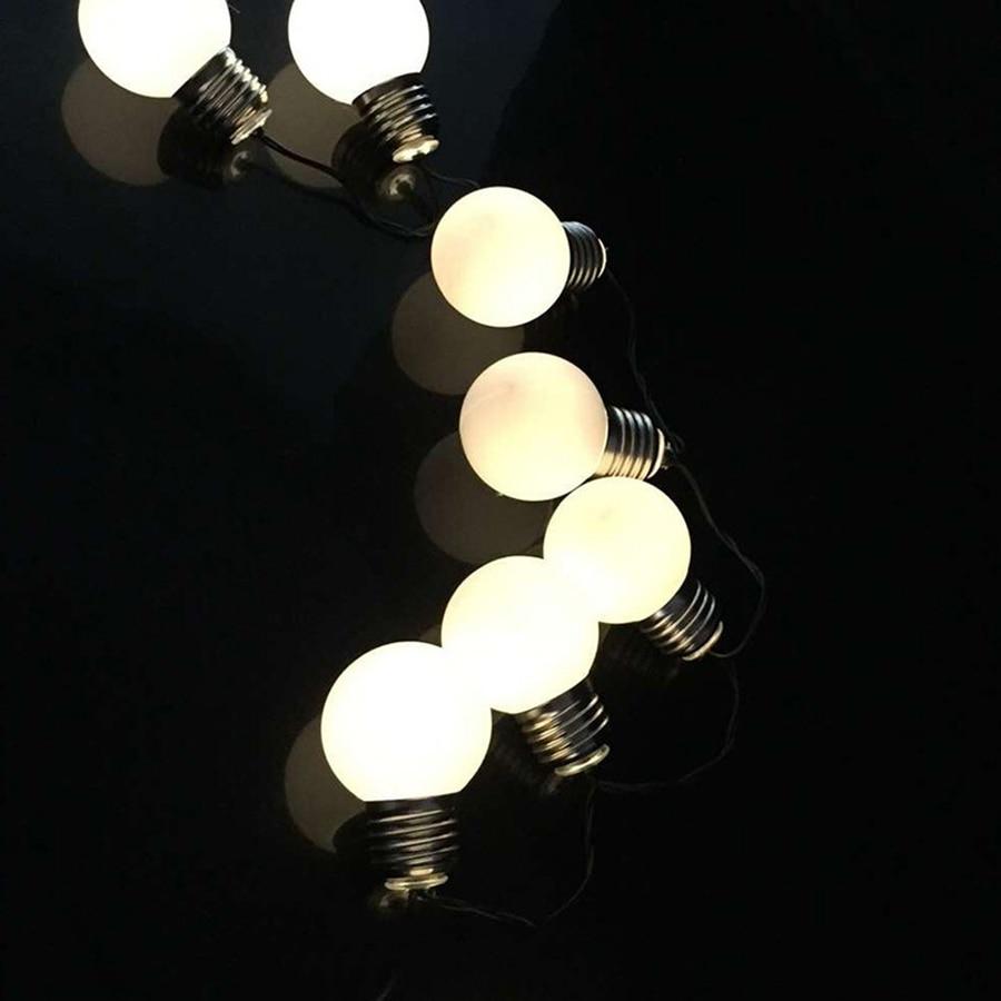 BEIAIDI Solar 10 20 Led G50 Globe Bulbs LED String Light outdoor Globe String Garland for Fence Patio Garden Christmas Decor