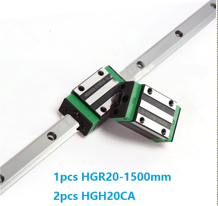 1pcs linear guide rail HGR20 1500mm + 2pcs HGH20CA linear narrow blocks for CNC router parts Made in China akg6090 made in china high quality desktop mini cnc router 4060 for sale