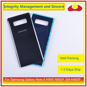 Image 4 - Original For Samsung Galaxy Note 8 N950 N950F SM N950F N9500 Housing Battery Door Rear Back Glass Cover Case Chassis Shell