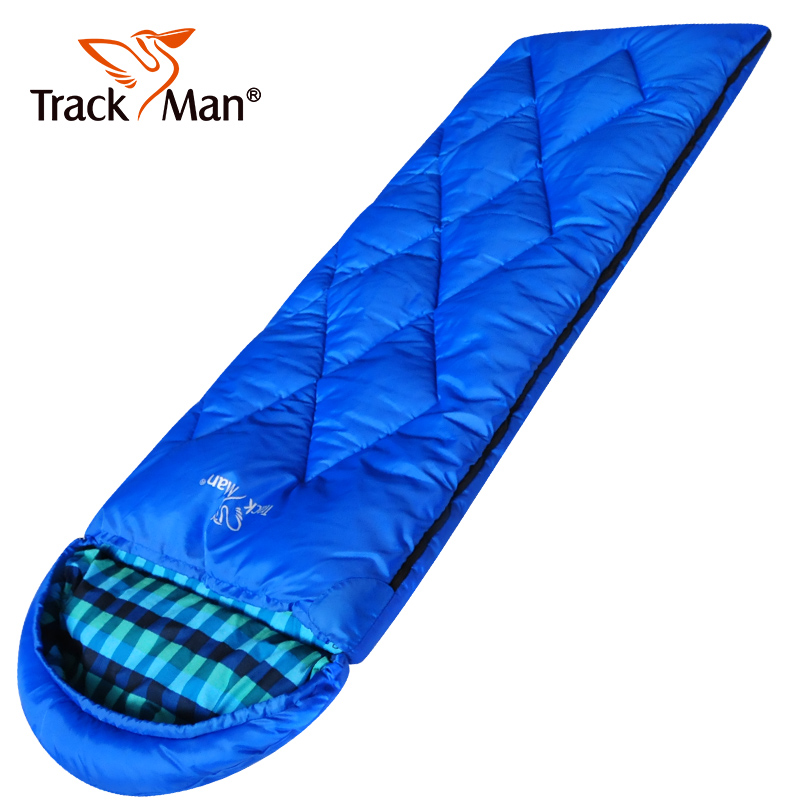 Trackman Camping Sleeping Bag Adult Tents Cotton Filler Envelope Outdoor Warm Spring Autumn Hiking Bags 2.2*0.75M TM3205