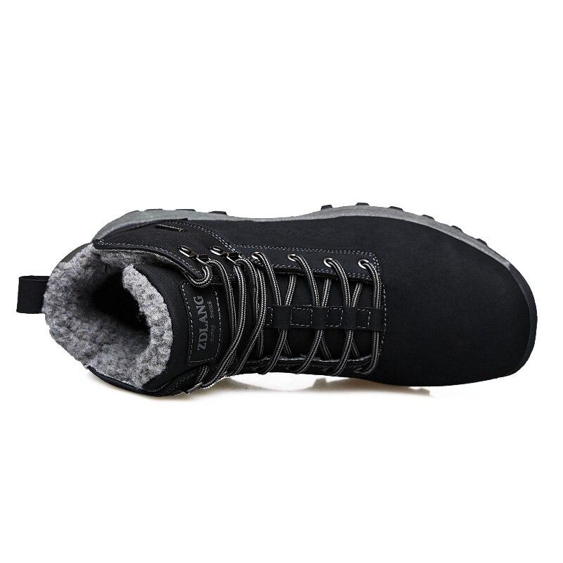 Grande Hiver brown Noir Hommes 2018 Taille Peluche Anti Dérapage Black D'hiver 46 Bottes En Brun Chaussures Sécurité Chaud 39 De XHqS8wW