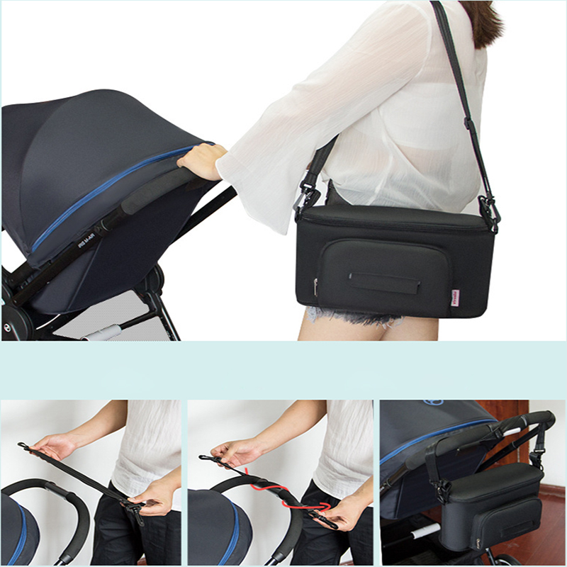 HTB1J98Eef1G3KVjSZFkq6yK4XXaw Baby Stroller Organizer Nappy Bag Mummy Waterproof Hanging Carriage Bottle Bag Handbag Pram Buggy Cart Organizer Diaper Bag