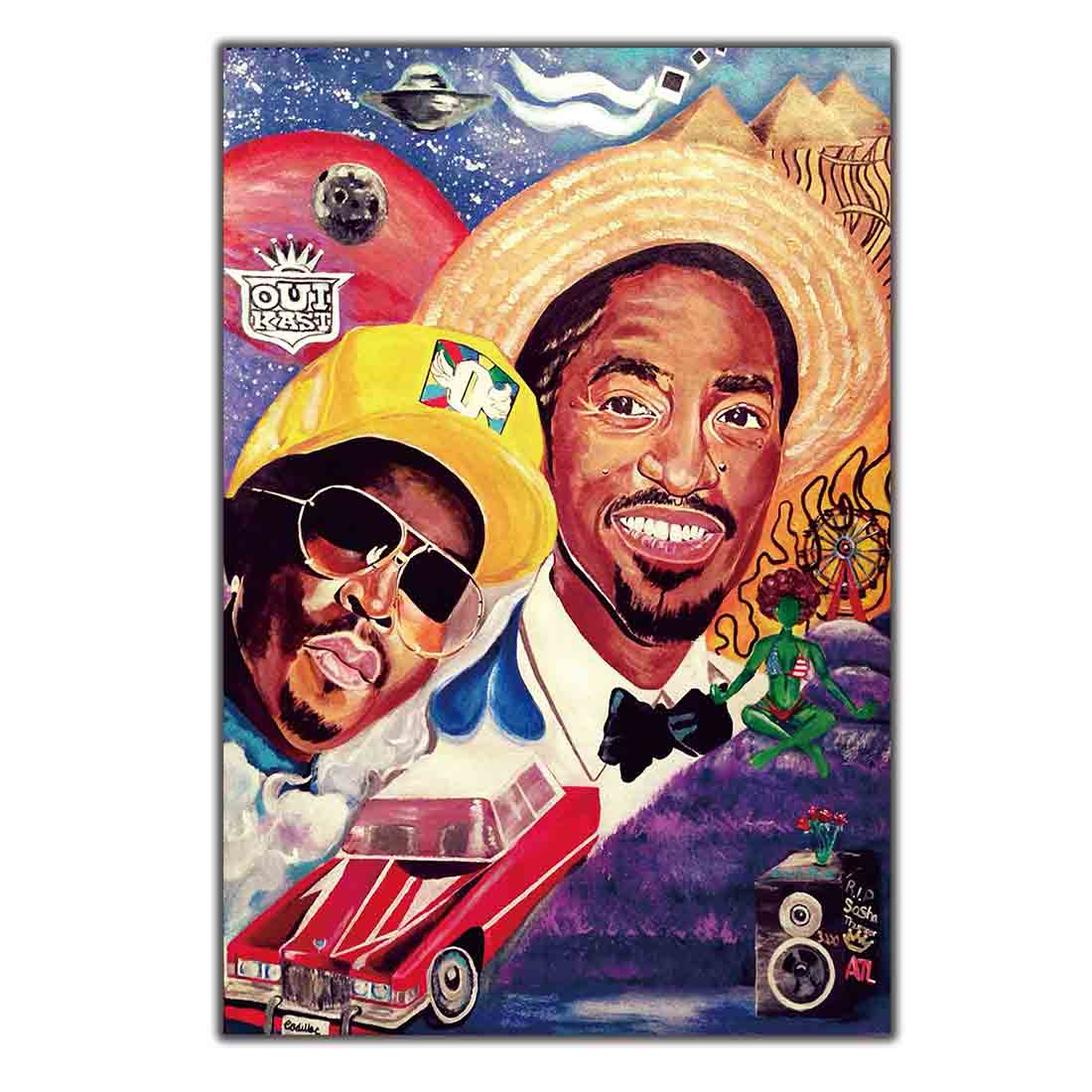 Silk Art Poster Print Home Wall decoration 8x12 12x18 24x36inch decor light canvas 2000 OUTKAST Stankonia Hip Hop Duo Album image