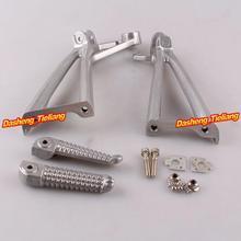 Aleación de aluminio Trasero de Pasajeros Estriberas Reposapiés Soportes para Yamaha 03-05 R6 03-08 R6S, motocicleta piezas de Repuesto Accesorios