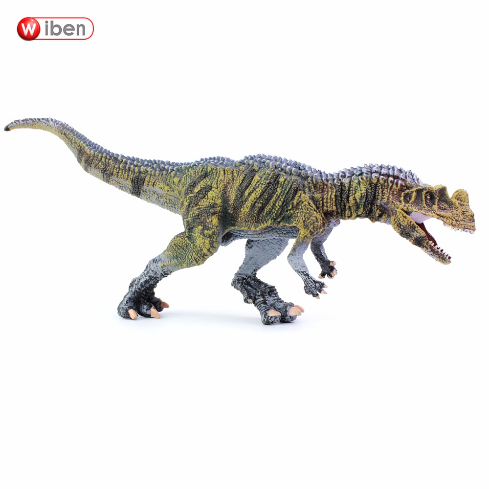 Wiben Jurassic Ceratosaurus Dinosaur Toys Action Figure Animal Model Collection High Simulation Xmas Gift For Kids figurine