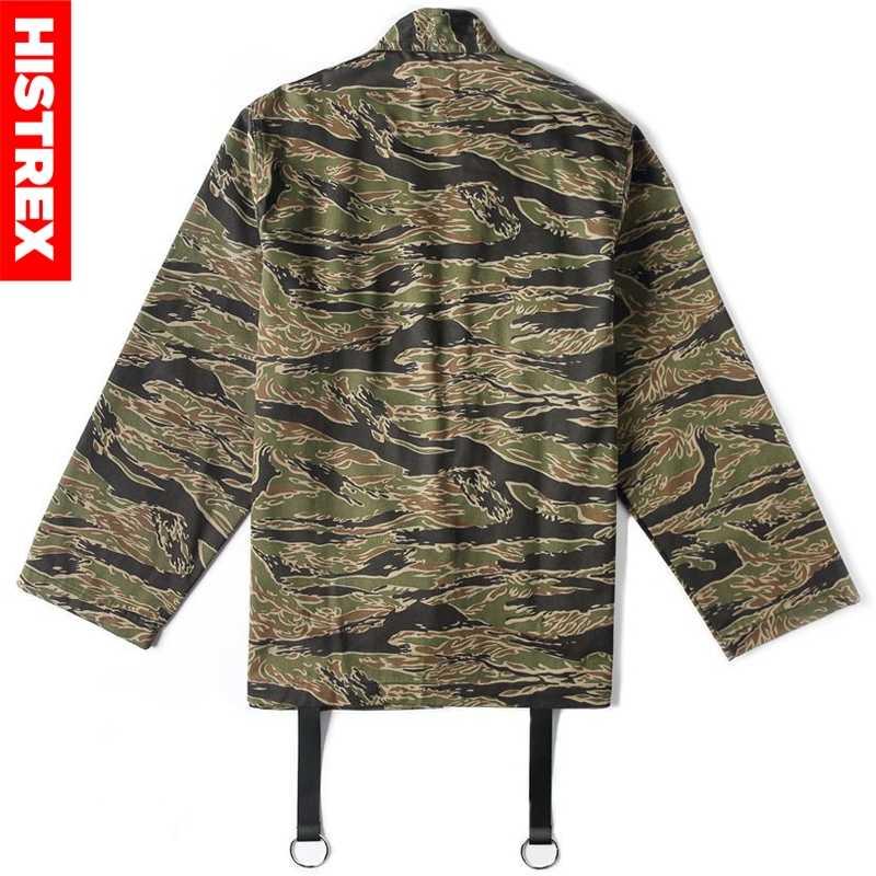 16db8acd2 ... HISTREX Mens Jacket Japanese Kimono Camo Jackets Japan Style Hip Hop  Camouflage Open Stitch Kimonos Coat ...