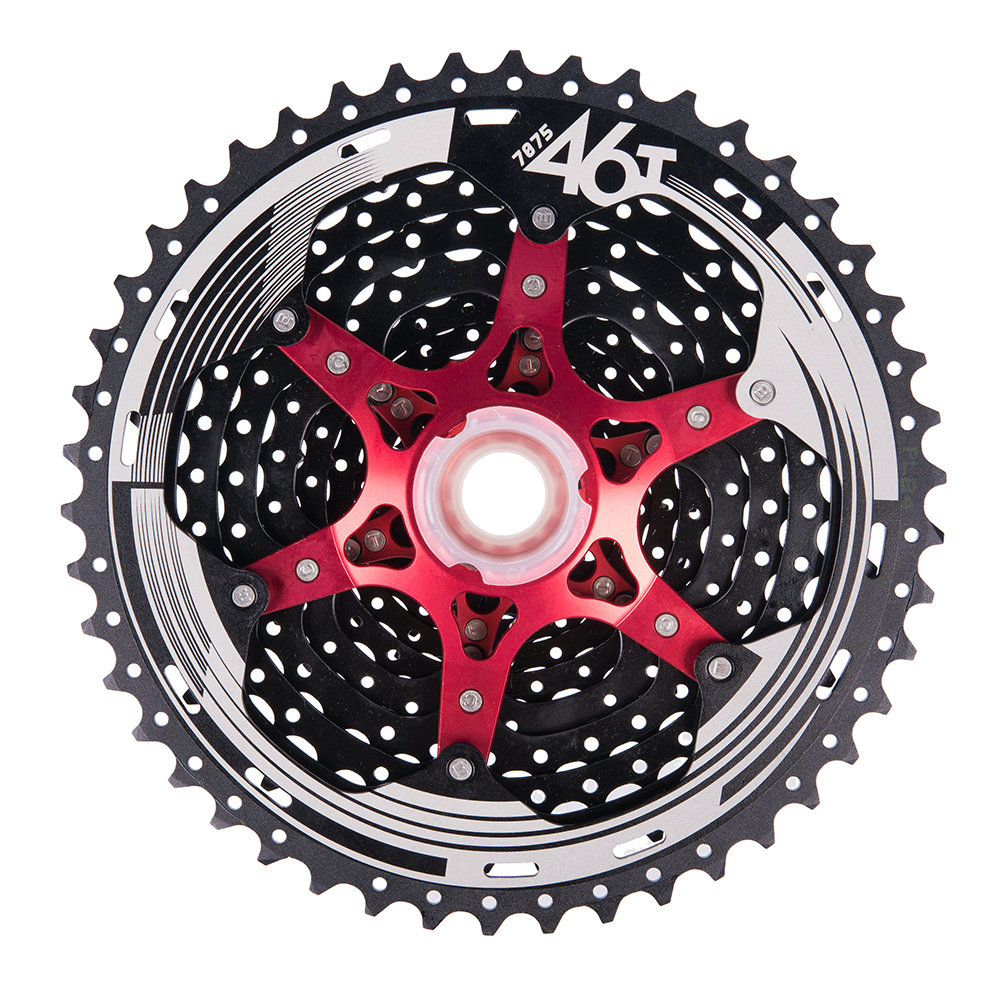 цена на 11-46T MTB Mountain Bike Bicycle Parts 11s 22s 11Speed Freewheel Cassette for Shimano XT SLX M7000 M8000 M9000 SRAM Cheap DH