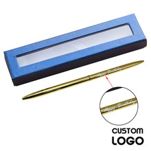 купить High Quality Metal Engraved Ballpoint Pen Customized Logo Gel Pens Office & School Pen With A Box Stationery Gift Business Pens по цене 117.05 рублей