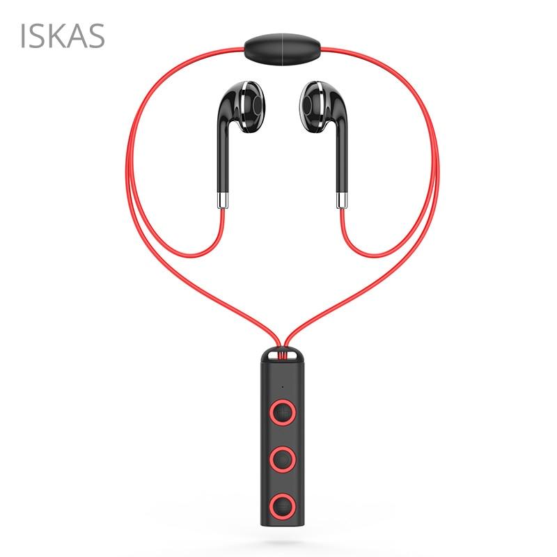 ISKAS Bluetooth Earphone Music Headphones Sport Phone Wireless Bass Fone Sem Fio Phone Bluetooth Handsfree Good Technology New