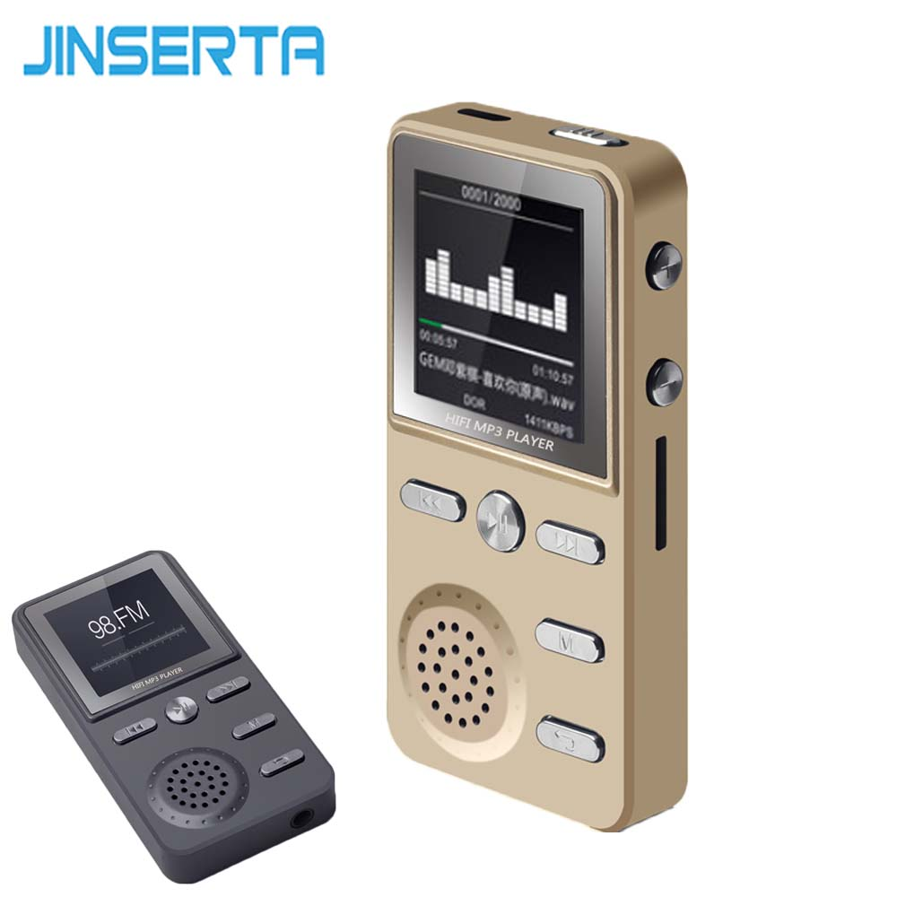 JINSERTA Metal 8GB MP3 Player Lossless HIFI MP3 Sport Music Multifunction FM Clock Recorder Loudly Stereo Players With USB Cable(China)