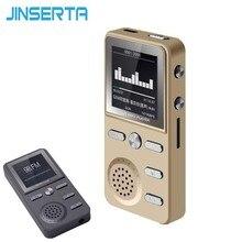 JINSERTA מתכת 8GB MP3 נגן Lossless HIFI MP3 ספורט מוסיקה תכליתי FM שעון מקליט בקול רם סטריאו נגני עם USB כבל