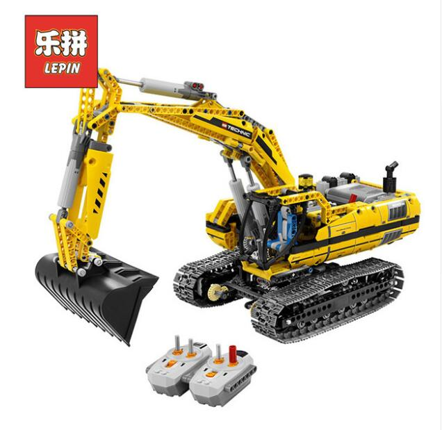 LEPIN 20007 Technic Series Engineering Excavator DIY Set Model Building Kits Blocks Bricks Children Toys Christmas Gift 8043 lepin 01018 girl series enchanted castle princess diy set doll house model building kits blocks bricks children toys christmas