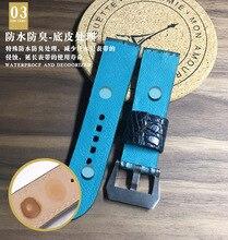 True alligator strap alligator skin back bones leather strap watch accessories strap цена
