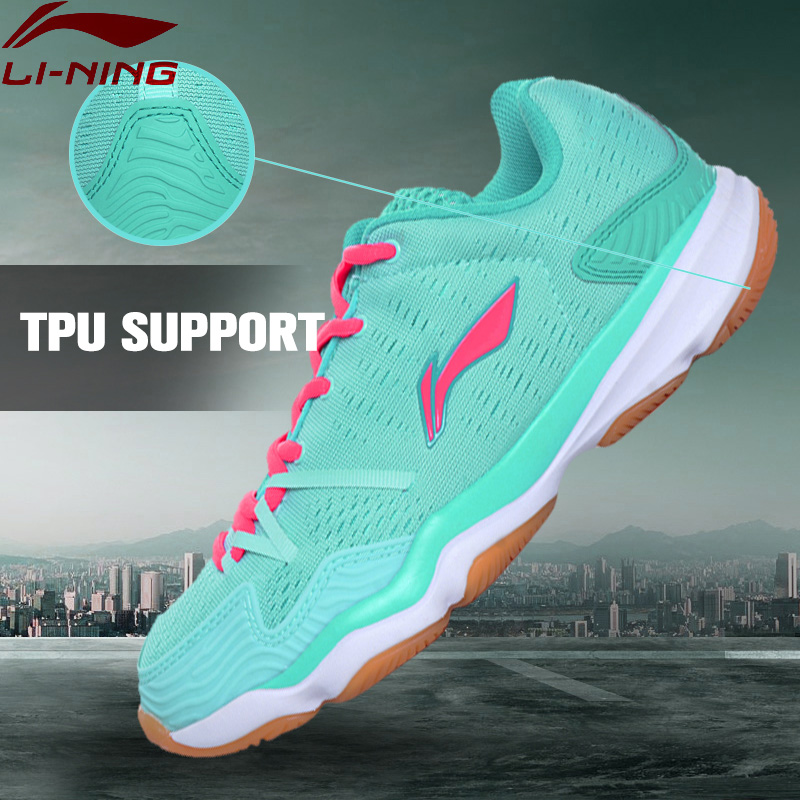 Li-Ning Women Badminton Shoes Textile Upper Breathable Sneakers Hard-Wearing LiNing Sports Shoes AYTM062 XYY052 original li ning men professional basketball shoes