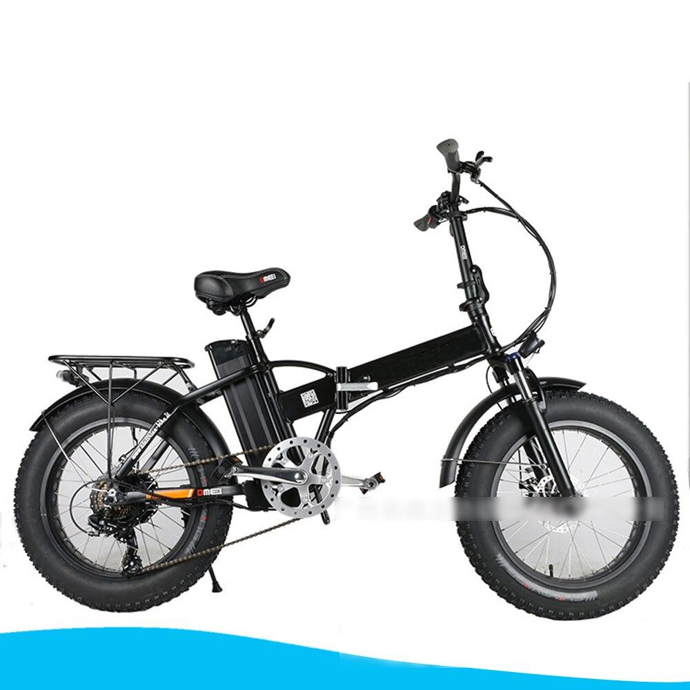 E bicicleta 36 v 10ah bateria de lítio 350 w potência do motor auxiliar motos bicicleta dobrável pneu gordura bicicleta elétrica elétrica