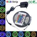 5M RGB Led Strip Light SMD 3528 waterproof  Flexible Light 5m/roll diode tape +EU/US dc 12V 2A Adapter+24keys controller led kit