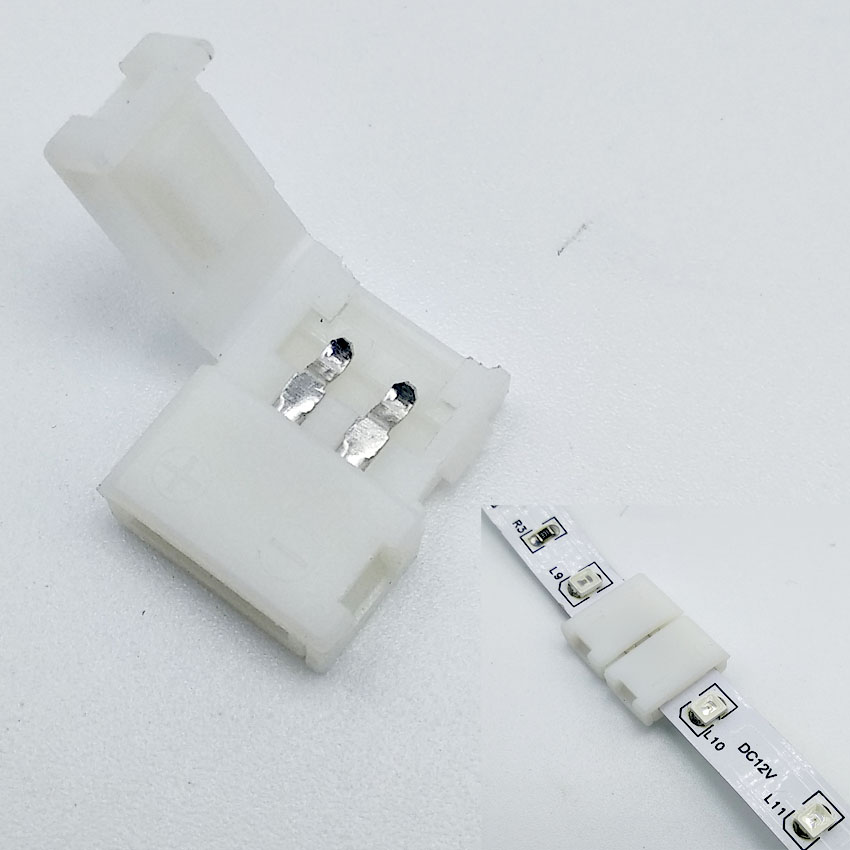 5050 3528 LED Strip Connectors 8 10 12mm 2 4 5pin Free Welding Connector Bare board Non waterproof Dropping glue waterproof in Connectors from Lights Lighting