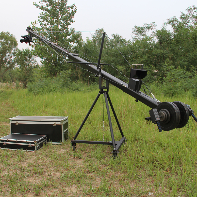 Manufacturers-crane jib Professional 10m2-axis dutch head triangle jib video camera crane for film shooting emblem