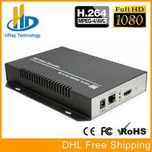 URay H264 MPEG4 H 264 HDMI Encoder HDMI Para IP De Streaming Decodificador de Codificador de vídeo Servidor UDP RTMP RTSP HLS Para IPTV, Transmissão ao vivo