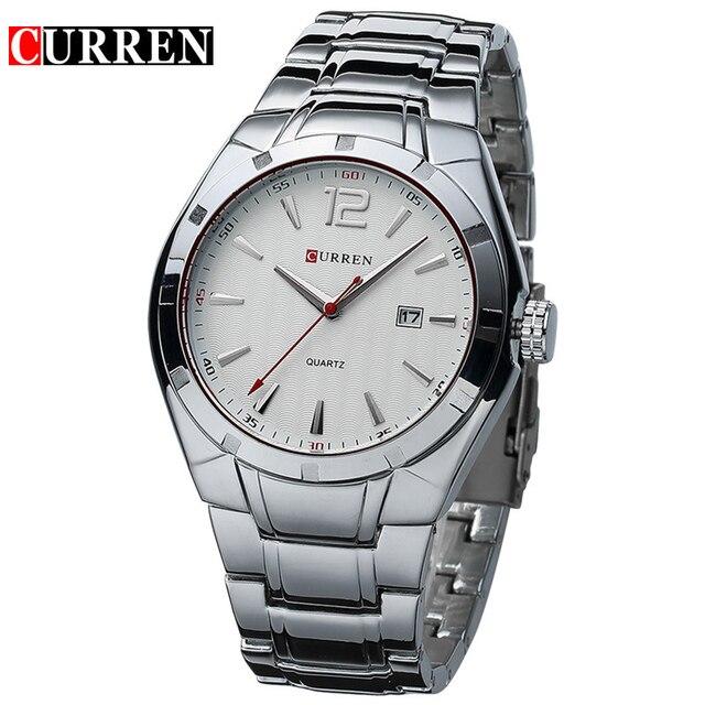 Curren Luxury Brand Men's Fashion Business Quartz Casual Calendar Waterproof Wristwatches
