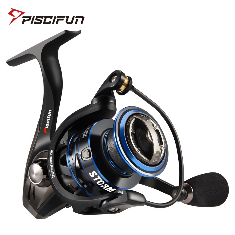 Piscifun Storm Spinning Reel 6.2:1 Gear Ratio 10+1 Ball Bearings 10KG Max Drag 2000,3000,4000,5000 Series Fishing Reel