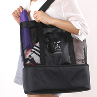 Large Thermal Insulation Cooler Bag Women S Handbag Multifunctional Insulation Package 2 Layers Food Portable