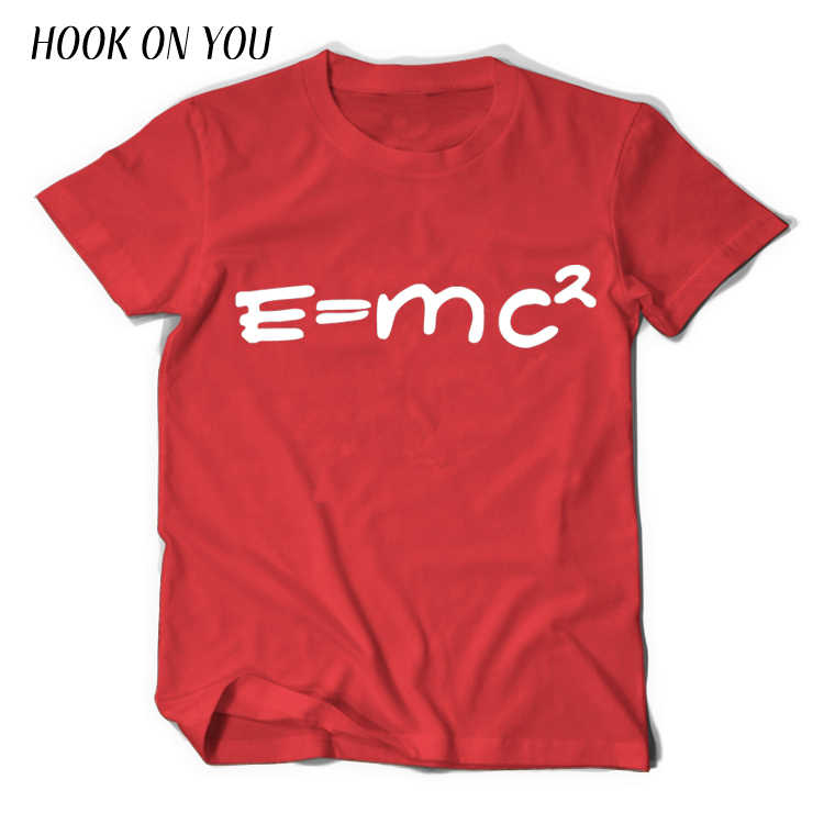 Lý Thuyết Vụ Nổ Lớn Sheldon Cooper Bazinga Áo Nam Áo Thun Hình Einstein Khối Lượng Năng Lượng Phương Trình E = MC In homme Top Tee