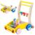 Bebé plegable andador con música de madera de dibujos animados de animales