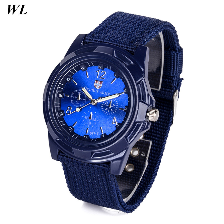 100pcs/lot Wholesale Hot Sale Fashion 5Colors Women Men Christmas Gemius Army Sports Watch Fabric Braided Quartz Wristwatch DHL