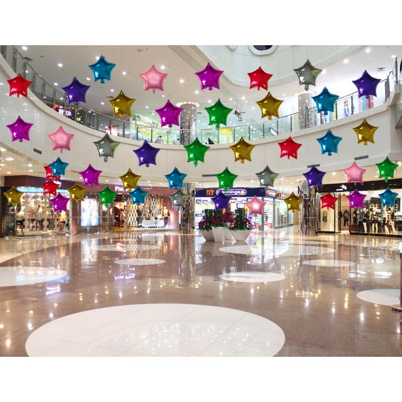 Balloon Decoration At Home: 50pcs/lot 10inch Metallic Star Heart Shape Solid Color